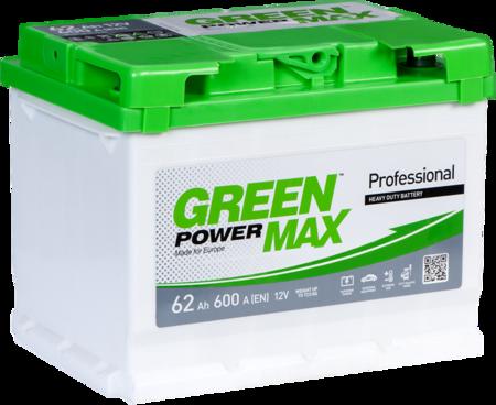 Изображение Аккумулятор Green Power Max 62 (правый плюс)