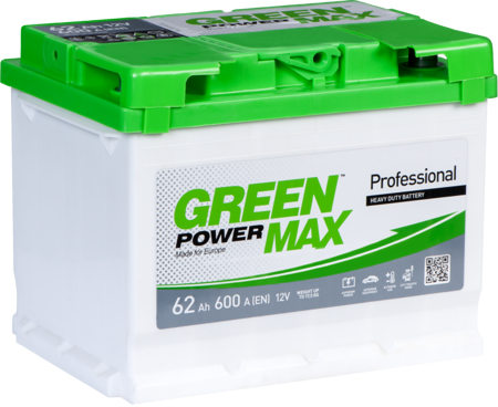 Зображення Аккумулятор Green Power Max 145 (левый плюс)