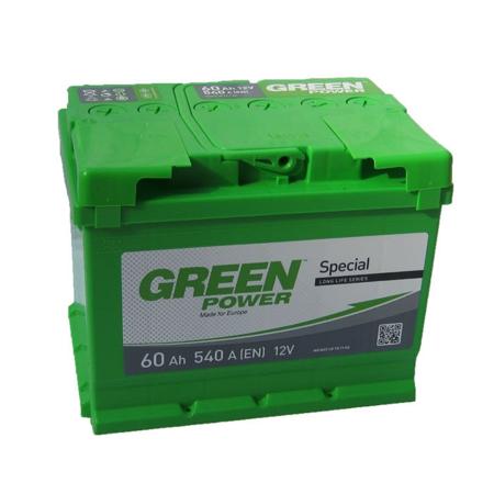 Изображение Аккумулятор Green Power 60 (левый плюс)
