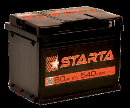 Изображение Аккумулятор Starta 6ст60 (левый плюс)