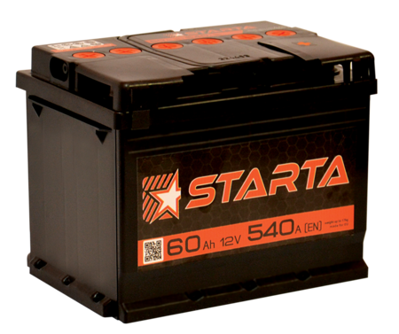 Изображение Аккумулятор Starta 6ст100 (левый плюс)