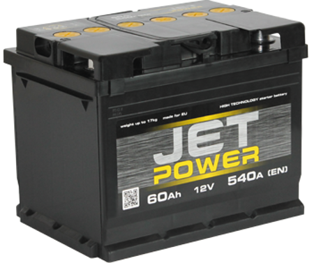 Изображение Аккумулятор Jet Power 6ст140 (левый плюс)