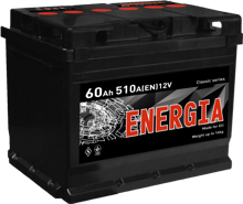 Изображение Аккумулятор Energia 75 (правый плюс)