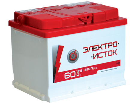 Изображение Аккумулятор Электроисток 190 (правый плюс) евробанка